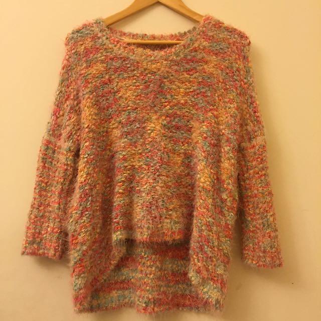 可愛混色毛衣針織衣