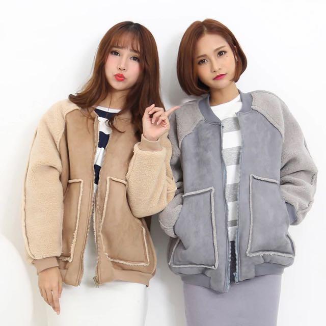 軟綿綿麂皮絨外套