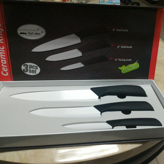 三件一組,陶瓷刀