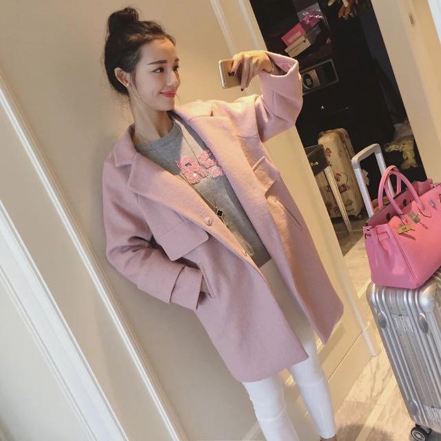 韓風 寬鬆大衣