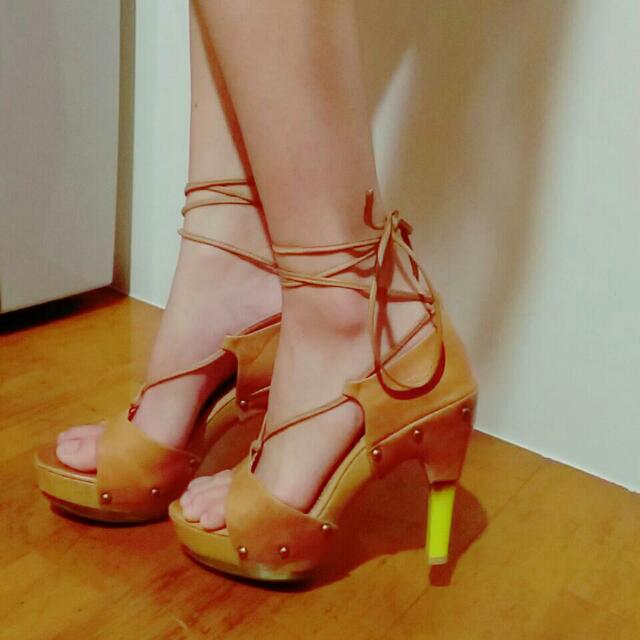 皮 高跟鞋 復古