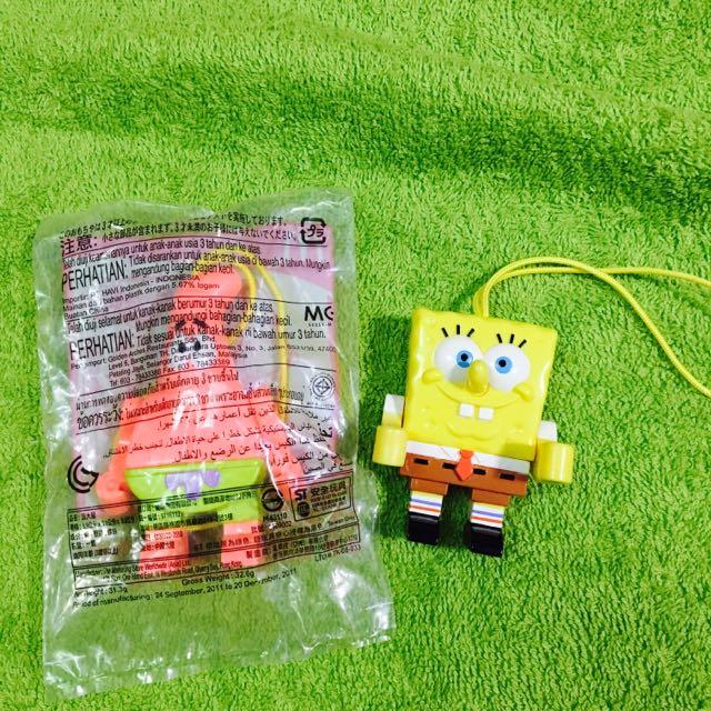 海棉寶寶 派大星 麥當勞 玩具