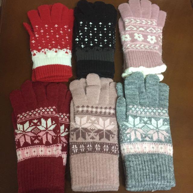 全新 冬季必備 毛 手套 禦寒 發熱 聖誕禮物 保暖 下殺五折
