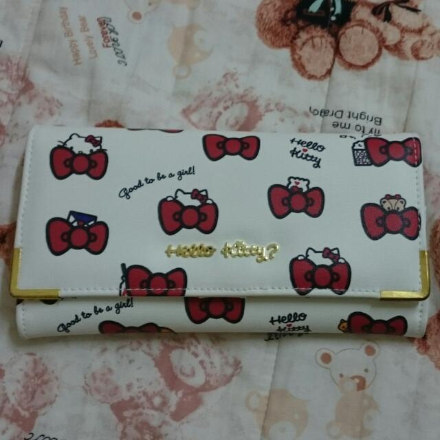 全新  三麗鷗專櫃 正版 Hello Kitty 蝴蝶結系列 長夾 皮夾 錢夾