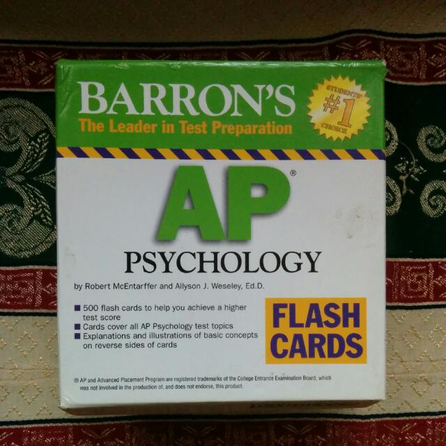 ap psych barrons Barron's ap calculus barron's ap psychology, 6th edition updated content and test questions based on the most recentversion of the ap psychology course.