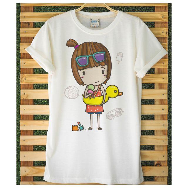 Beach Ball Boy & Duckie Girl t-shirt