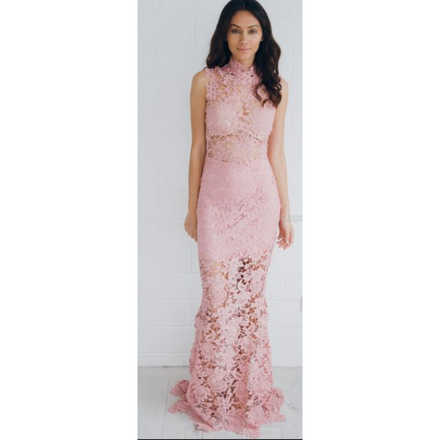 Eve Lace Maxi Pink