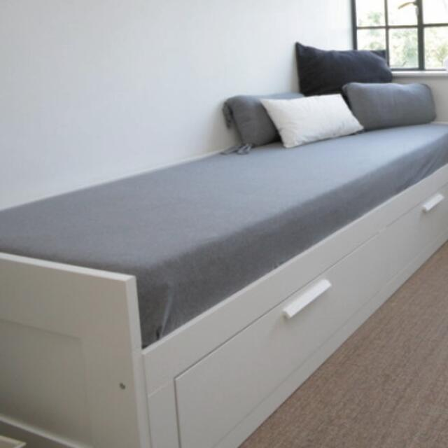 Ikea brimnes daybed day bed sofa furniture on carousell for Ikea day bed