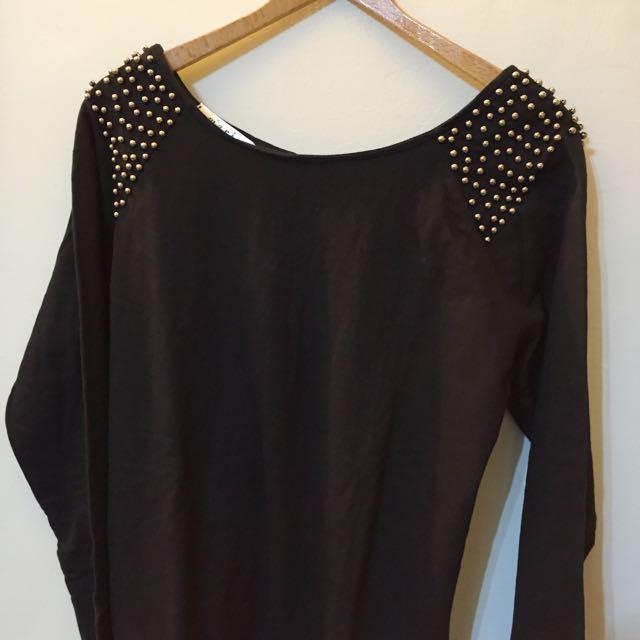 MARIE 黑色 造型 合身 洋裝