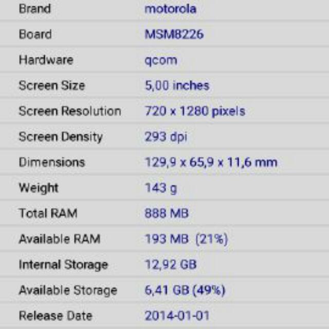 Motorola Moto G XT1033, Electronics on Carousell
