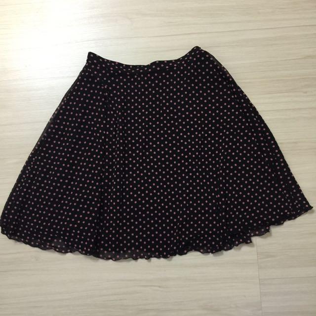 NET粉紅色水玉短裙(保留待匯)