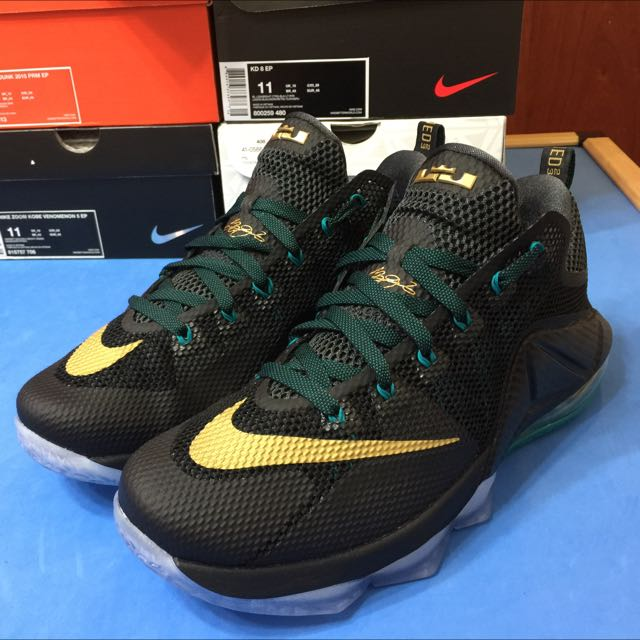 Nike lebron james LBJ 12代 LOW 黑金 低筒