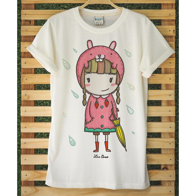 Raining Folder Cats & Umbrella Rabbit t-shirts
