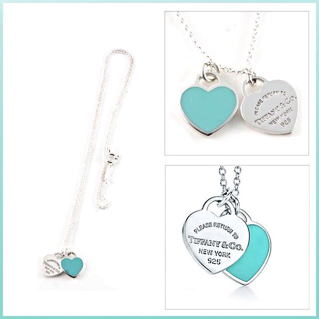 7457f33822 Return To Tiffany Double Heart Tag Pendant Necklace, Luxury on Carousell