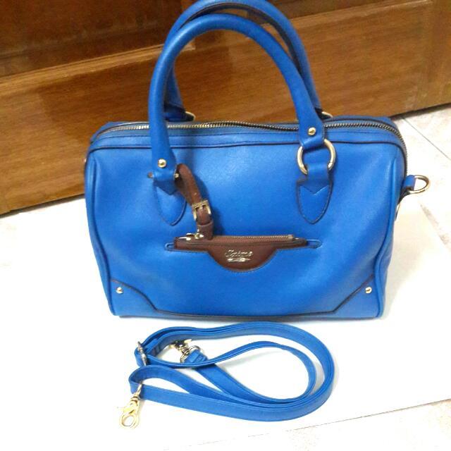 Saime 東京企劃 寶藍色波斯頓包