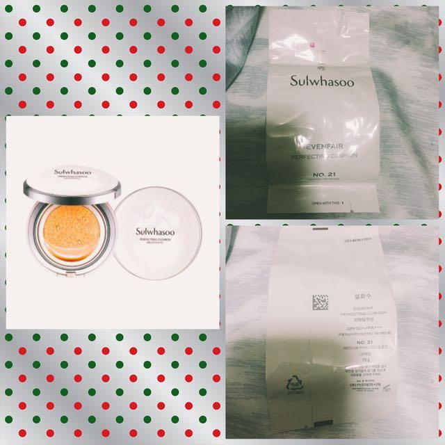 🌟🌟廣三SOGO購買 SULWHASOO雪花秀氣墊粉餅(替換蕊芯)(保留中)