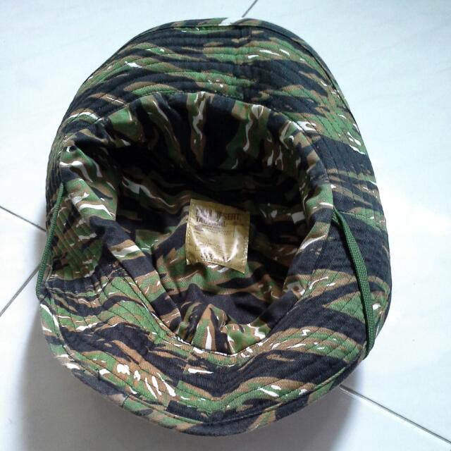 Tiger Stripe Camou Camo Army Jungle Hat Boonie Hat Fishing Hat High Desert Tactical