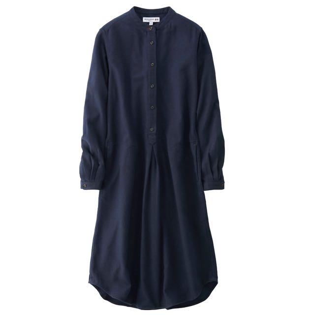 UNIQLO法蘭絨立領洋裝(含運)
