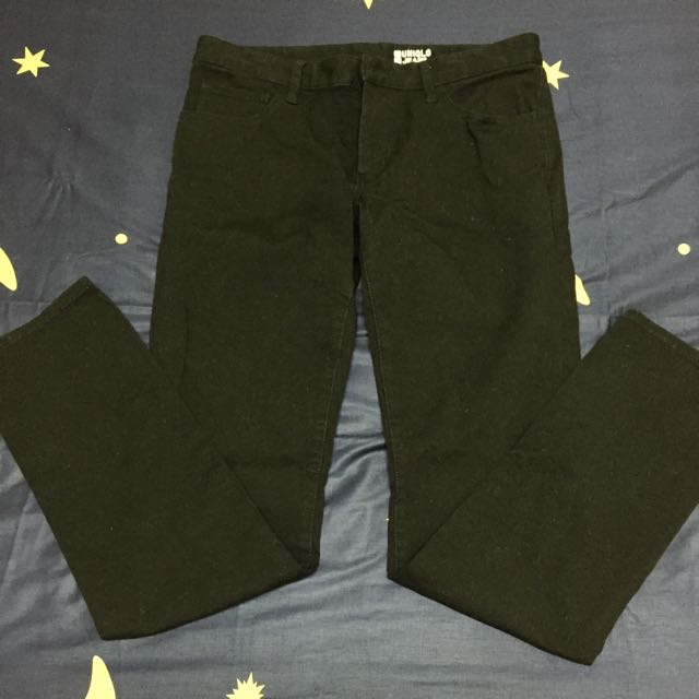 Uniqlo 窄管長褲(黑) 32腰