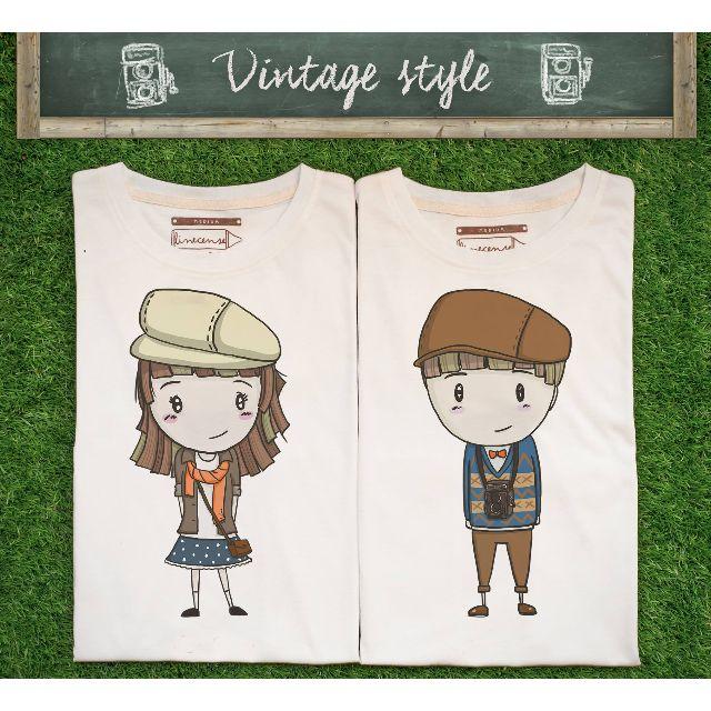 Vintage couple t-shirts