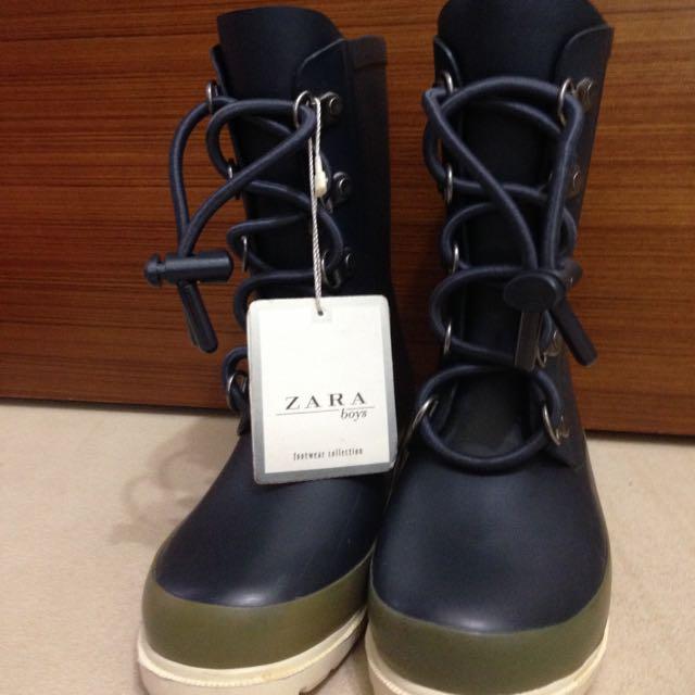 Zara兒童雨鞋 軍靴造型