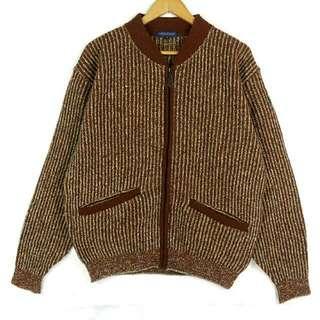 ☞兩件免運☞不對稱口袋米棕絨外套夾克F01☞grand grand復古VINTAGE古著毛衣