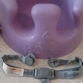 Like New! Bambo floor seat, purple color