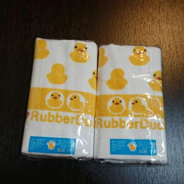 100%純棉 黃色小鴨毛巾