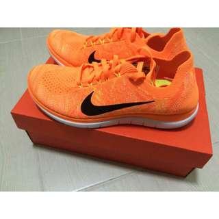 (代售)全新Nike Free 4.0 編織亮橘色 24.5cm