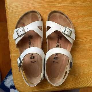 二手 勃肯 涼鞋 Birkenstock Rio白色 8成新