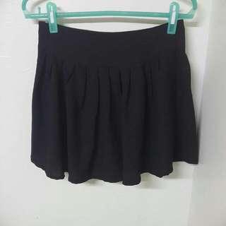 🎯雪紡氣質短裙 黑 M二手
