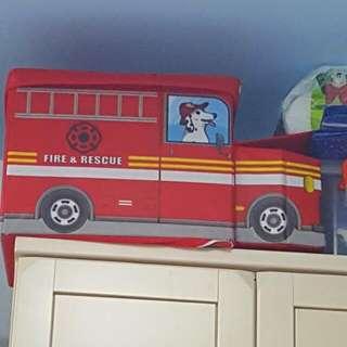 消防車收納箱/兒童椅子