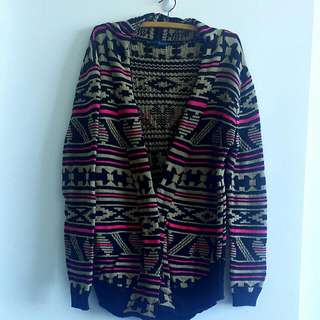 Aztec print cardigan, One size fits all