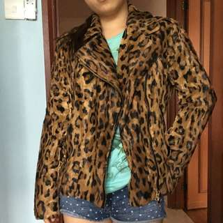 BN Faux Leopard Print Jacket