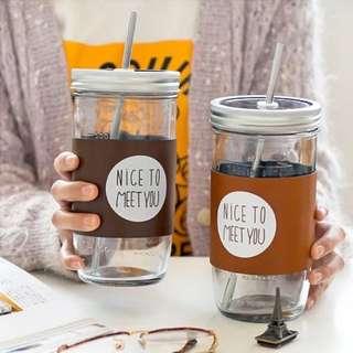 Nice To Meet U Glass Jar