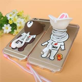 SALE! Line 3D Brown & Cony Iphone Casing Bonus FREE MicroSD Card