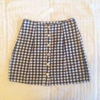 Check Tartan Skirt - New