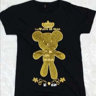 Round Neck T-shirt (Gold Bear)
