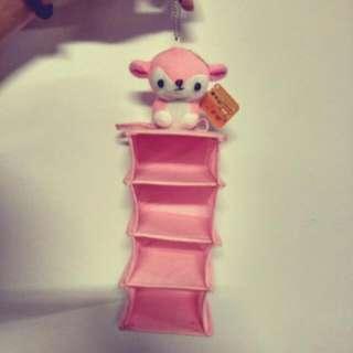 粉紅小鹿收納袋