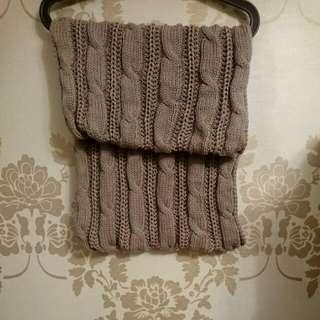 冬日搭配針織圍脖 共四款(灰、黑、綠咖啡、 棕橘)