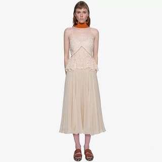 Self Portrait Lace Chiffon Dress Size L UK 10 #Easter40