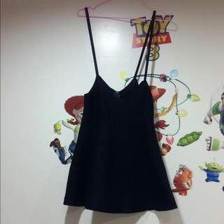 細針織吊帶裙