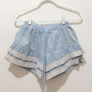 Frilly Jeans Short