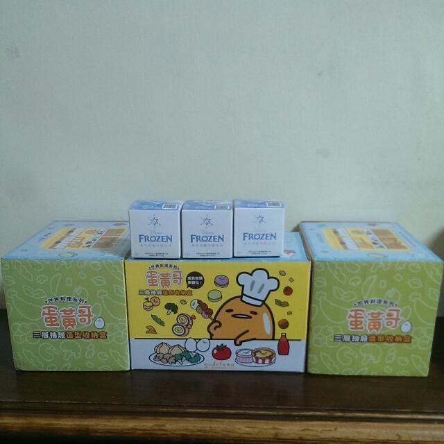 蛋黃哥三層抽屜造型收納盒~買就送冰雪奇緣串飾三個