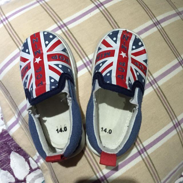 帥氣英國國旗帆布寶寶鞋
