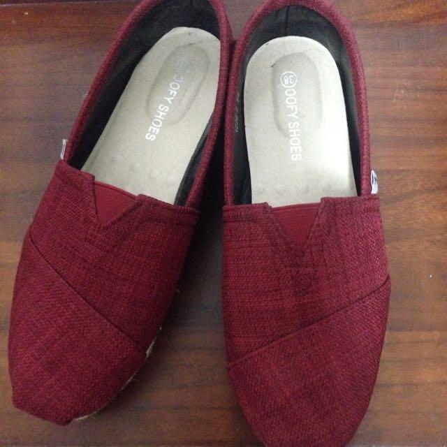 懶人鞋酒紅色