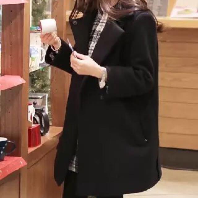 韓版毛呢中版外套