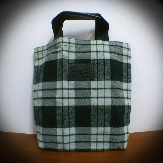 ✨雜誌-英倫格紋手提包