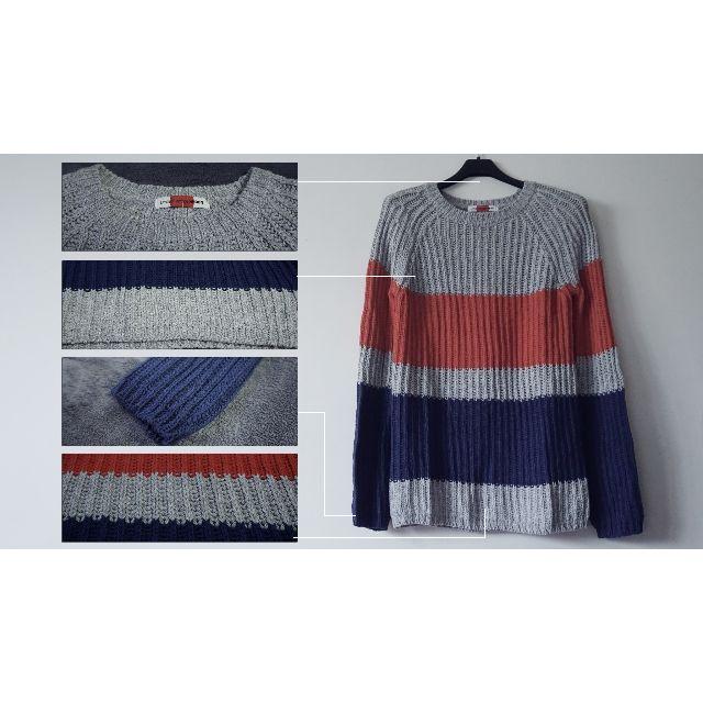 簡約質感配色拼接混織長袖毛衣