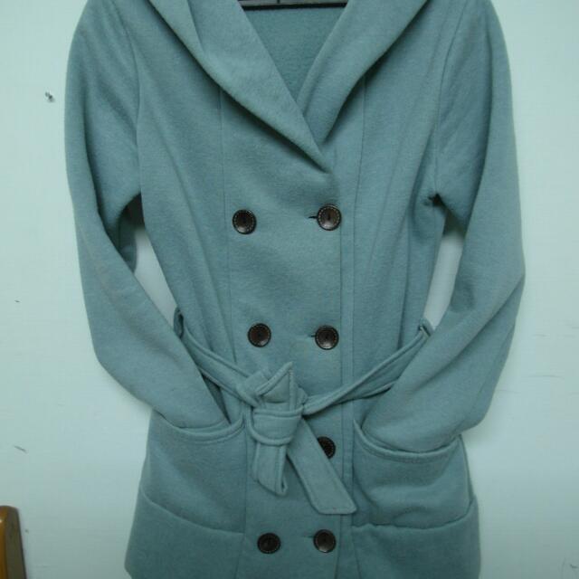 雙排扣外套 蒂芬妮綠